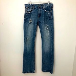 American Eagle Boot Cut 32/34 Distressed Jeans!